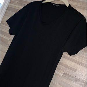 Zara Black Slip On Dress L